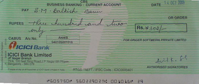how to send cheque securely
